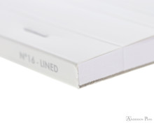 Rhodia Ice No. 16 Notepad - 6 x 8.25, Lined Paper - White - Binding