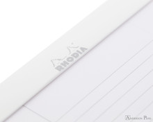 Rhodia Ice No. 16 Notepad - 6 x 8.25, Lined Paper - White - Page Closeup