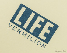 Life Vermilion Notebook - A6 (4 x 6), Lined Paper - Cover