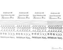 Anderson Pens #6 Steel Nib - Silver, 1.5mm Stub - Nib Card