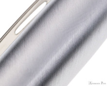Sheaffer 100 Fountain Pen - Blue Barrel with Brushed Chrome Cap