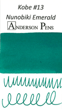 Kobe #13 Nunobiki Emerald Ink Sample (3ml Vial)