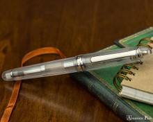 Platinum 3776 Century Fountain Pen - Nice Pur - Closed on Notebook