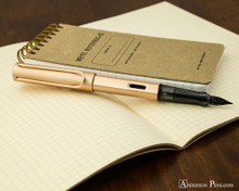 Lamy LX Fountain Pen - Rose Gold - On Notebook Posted