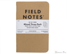 Field Notes Notebooks - Mixed Pack (3 Pack)