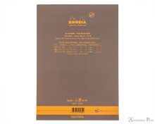 Rhodia No. 18 Premium Notepad - A4, Lined - Taupe back cover