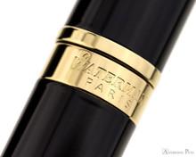 Waterman Hemisphere Ballpoint - Black with Gold Trim - Cap Band