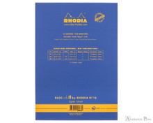 Rhodia No. 16 Premium Notepad - A5, Lined - Sapphire back cover