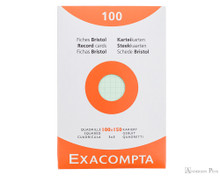 Exacompta Index Cards - 4 x 6, Graph - Assorted Colors