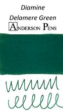Diamine Delamere Green Ink Color Swab
