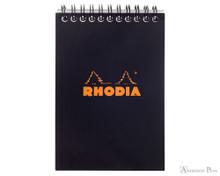 Rhodia No. 13 Wirebound Notebook - A6, Graph - Black