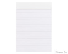 Rhodia No. 13 Staplebound Notepad - A6, Lined - Ice White open