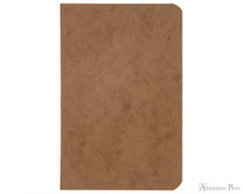 Clairefontaine Basic Staplebound Duo - 3.5 x 5.5, Lined - Black Tan Cover