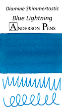 Diamine Shimmertastic Blue Lightning Ink Color Swab