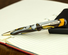 Conklin All American Ballpoint - Yellowstone - Open on Notebook