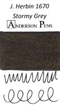 J. Herbin 1670 Anniversary Stormy Grey Ink Sample Color Swab
