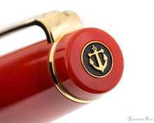 Sailor Pro Gear Slim Fountain Pen - Persimmon with Gold Trim - Cap Jewel