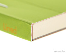Rhodia No. 16 Premium Notepad - A5, Lined - Anis Green binding detail