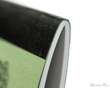 APICA CD11 Notebook - A5, Lined - Green thread binding