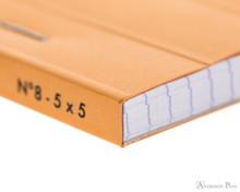 Rhodia No. 8 Notepad - 3 x 8.25, Graph - Orange binding detail