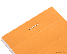 Rhodia No. 8 Notepad - 3 x 8.25, Graph - Orange staple detail