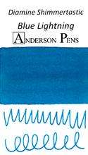 Diamine Shimmertastic Blue Lightning Ink Sample (3ml Vial)