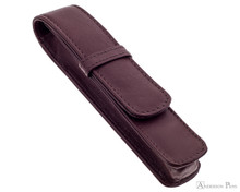Girologio 1 Pen Case - Brown Leather