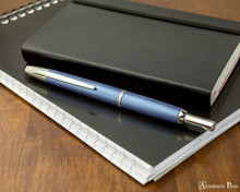 Pilot Vanishing Point Decimo Fountain Pen - Light Blue - On Notebook