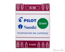 Pilot Namiki Green Ink Cartridges (6 Pack)