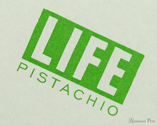 Life Pistachio Notebook - B6 (5 x 7), Graph Paper - Closeup