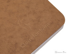 Clairefontaine Basic Staplebound Duo - 5.75 x 8.25, Lined - Black and Tan - Logo