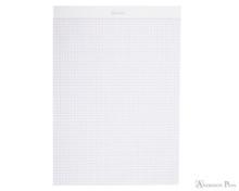 Rhodia No. 18 Staplebound Notepad - A4, Graph - Ice White open