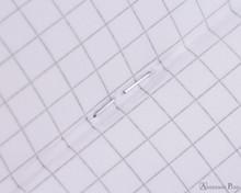 Rhodia Staplebound Notebook - 3 x 4.75, Graph - Ice White graph detail