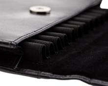 Girologio 12 Pen Case Portfolio - Black Leather