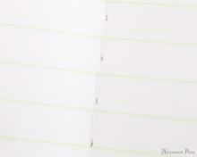 Life Pistachio Notebook - B6 (5 x 7), Lined Paper - Binding Closeup