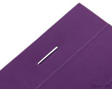 Rhodia No. 16 Premium Notepad - A5, Lined - Purple staple detail