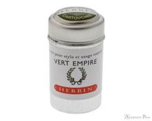 J. Herbin Vert Empire Ink Cartridges (6 Pack)