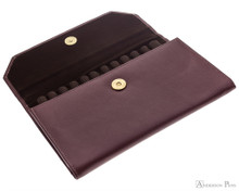 Girologio 12 Pen Case Portfolio - Brown Leather
