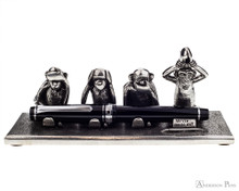 Jac Zagoory Write No Evil Pewter Pen Holder - Holding Pen