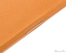 Rhodia Staplebound Notebook - 3 x 4.75, Graph - Orange staple detail