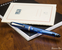 Pilot Custom 74 Fountain Pen - Blue - with Notebook