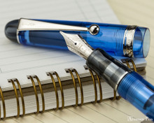 Pilot Custom 74 Fountain Pen - Blue - Nib with Notebook
