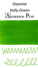 Diamine Kelly Green Ink Color Swab