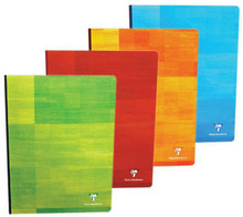 Clairefontaine Classic Clothbound Notebook - 6.75 x 8.75, French-Ruled Paper - Assorted