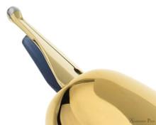 Pilot Vanishing Point Fountain Pen - Black with Gold Trim - Nib Profile