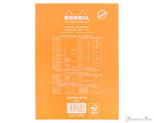 Rhodia No. 16 Staplebound Notepad - A5, Dot Grid - Orange back cover
