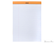 Rhodia No. 18 Staplebound Notepad - A4, Lined - Orange open