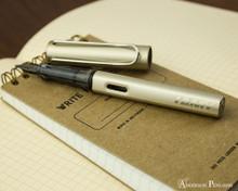 Lamy LX Fountain Pen - Palladium - On NotebookOpen