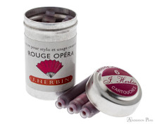 J. Herbin Rouge Opera Ink Cartridges (6 Pack) loose with containers