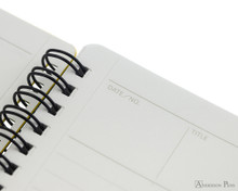 Maruman Mnemosyne N194A Notebook - B5, Lined - Black detail